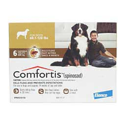 Comfortis Chewable Tablets 6 pk (Dog 60-120 lbs) Brown - Item # 1107RX