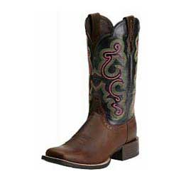 Black/Brown Womens Quickdraw Cowgirl Boots
