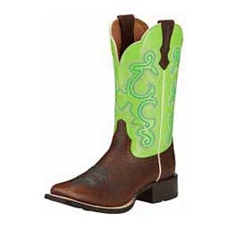 Quickdraw Cowgirl Boots Bright Lime - Item # 11102