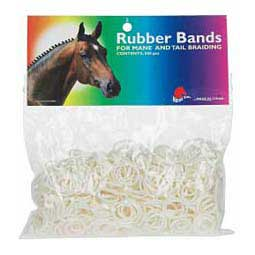 White Band-It Rubberbands for Mane and Tail Braiding