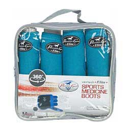 SMB VenTech Elite Support Horse Boots Value Pack Turquoise - Item # 11811