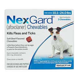 NexGard Flea and Tick for Dogs 10-24 lbs 28.3 mg 3 ct - Item # 1189RX