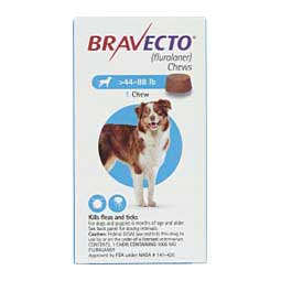 Bravecto Chews for Dogs 44-88 lbs 1 ct - Item # 1201RX