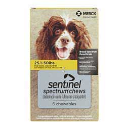 Sentinel Spectrum for Dogs 25.1-50 lbs 6 ct - Item # 1205RX