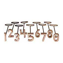 "Freeze Brand Number Set 2-1/2"" (0-8) 5/16'' face - Item # 12284"