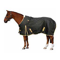 Black/Tan Equisential 600D Winter Turnout Horse Blanket