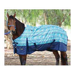 Equisential 600D Winter Turnout Horse Blanket Southwest/Blue - Item # 12984