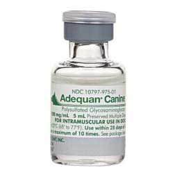Adequan Canine Sterile Injection 1 x 5 ml (100 mg/ml) vial - Item # 1368RX