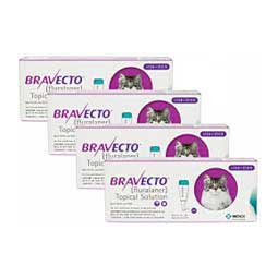 Bravecto Topical Solution for Cats 500 mg/4 ct (13.8 - 27.5 lbs) - Item # 1401RX