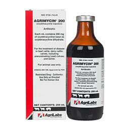Agrimycin 200 Antibiotic for Use in Animals 250 ml (California Rx Only) - Item # 1428RX