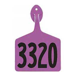 Light Purple Feedlot Ear Tags - Numbered Cattle ID Tags