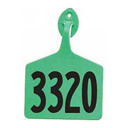 Light Green Feedlot Ear Tags - Numbered Cattle ID Tags