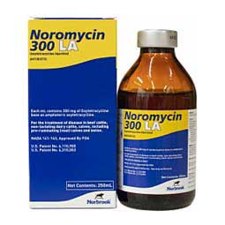 Noromycin 300 LA Oxytetracycline for Use in Animals 250 ml (California Rx Only) - Item # 1451RX