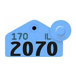 Blue Tamperproof Hog Ear Tags - Hog Numbered ID Tags