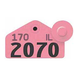 Pink Allflex Tamperproof Hog Ear Tags - Hog Numbered ID Tags