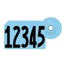 Global Hog Ear Tags - Numbered Integra Hog ID Tags Blue - Item # 14541