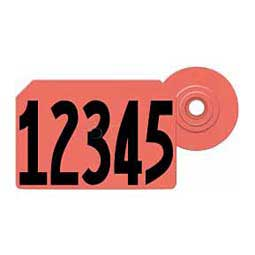 Global Hog Ear Tags - Numbered Integra Hog ID Tags Red - Item # 14541
