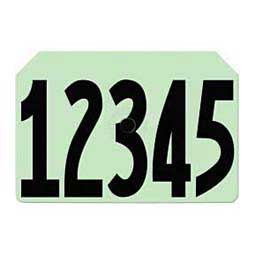 Tamperproof Hog Ear Tags - Numbered Integra Hog ID Tags Green - Item # 14543