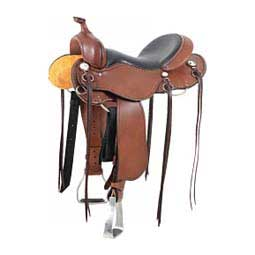 Western Trail Horse Saddle with Horn Chocolate - Item # 14921