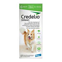 Credelio Flea and Tick for Dogs 25.1-50 lbs 450 mg 6 ct - Item # 1496RX
