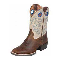 "Crossfire 8"" Cowboy Kids Boots Distressed Brown - Item # 15008"