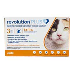 Revolution Plus for Cats 5.6-11 lbs (3 ct) - Item # 1505RX