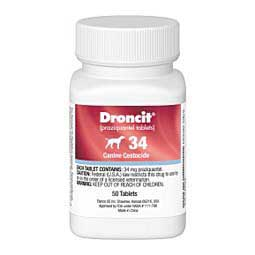 Droncit Canine Cestocide Tablets 34 mg/50 ct - Item # 150RX