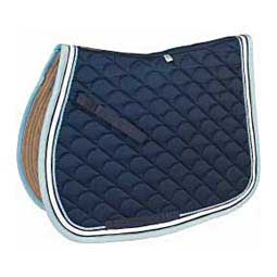 Light Blue/Navy/White Ecole Crescent All Purpose English Saddle Pad
