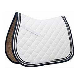 White/Grey/Black Ecole Crescent All Purpose English Saddle Pad