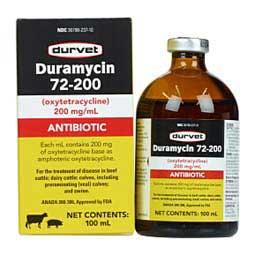 Duramycin 72-200 for Livestock 100 ml - Item # 1542RX