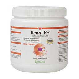 Renal K+ (Potassium Gluconate) Powder for Dogs and Cats 100 gm - Item # 15595