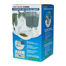 Cat Mate C3000 Automatic Dry Food Pet Feeder for Cats and Small Dogs White - Item # 15617