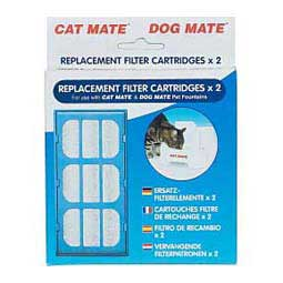 2 pack Cat Mate Dog Mate Pet Fountain Replacement Filter Cartridges