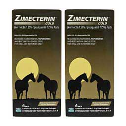 Zimecterin Gold Paste Horse Wormer 12 ct multipack - Item # 15873