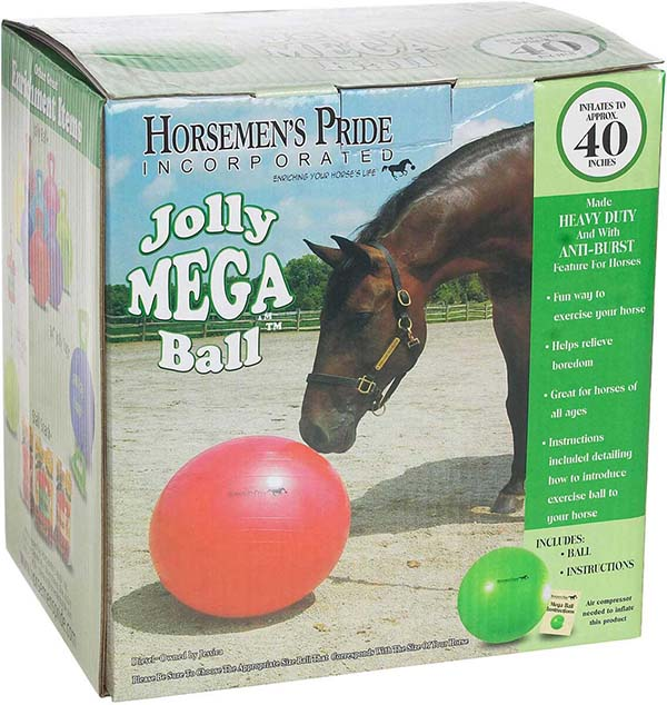 Horseman's Pride Jolly Mega Ball Horse Toy Jolly Training Accessories |  Stable Equipment Supplies |