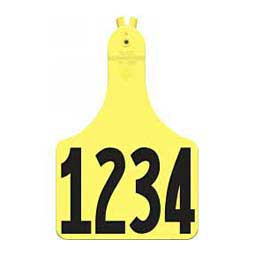 A-Tag Numbered Cow ID Ear Tags Yellow - Item # 15901