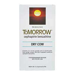12 ct Tomorrow (Cephaperin Benzathine) Dry Cow Mastitis Treatment