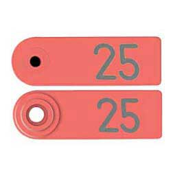 Red Allflex Global Sheep Ear Tags - Numbered Sheep ID Tags