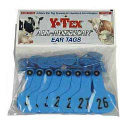 Blue Ear Tags - Small Numbered Cattle ID Tags