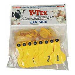 Numbered Small Cattle ID Ear Tags Yellow - Item # 16858