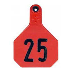 Numbered Large Cattle ID Ear Tags Red - Item # 16860