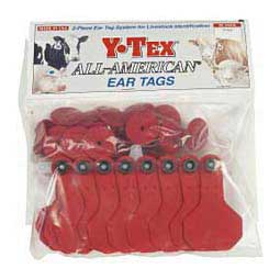Blank Small Cattle ID Ear Tags Red - Item # 16861
