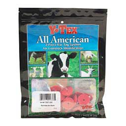 Extra Buttons for Cattle ID Ear Tags Red - Item # 16864