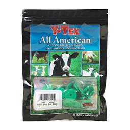 Green Y-Tex Ear Tags - Male Buttons