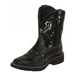 "Womens Gypsy Cowgirl Collection Suede Square Toe 8"" Boots Black - Item # 16982"
