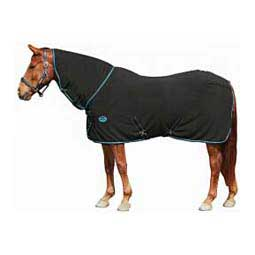 Black/Blue Fleece Combo Horse Cooler