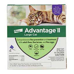 Advantage II for Cats 4 pk (cats over 9 lbs) Purple - Item # 18144