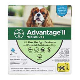 4 pk (11-20 lbs) Teal Advantage II for Dogs