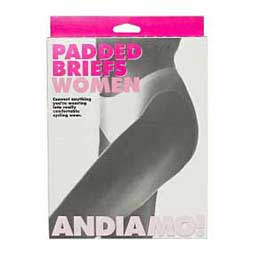 Womens Andiamo Padded Saddle Briefs White - Item # 18622