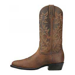 "Heritage Western R Toe 13"" Cowboy Boots Distressed Brown - Item # 20008"